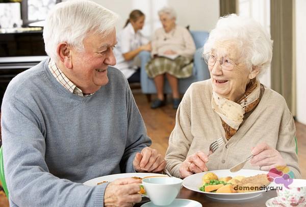 Питание в пансионате для больных деменцией